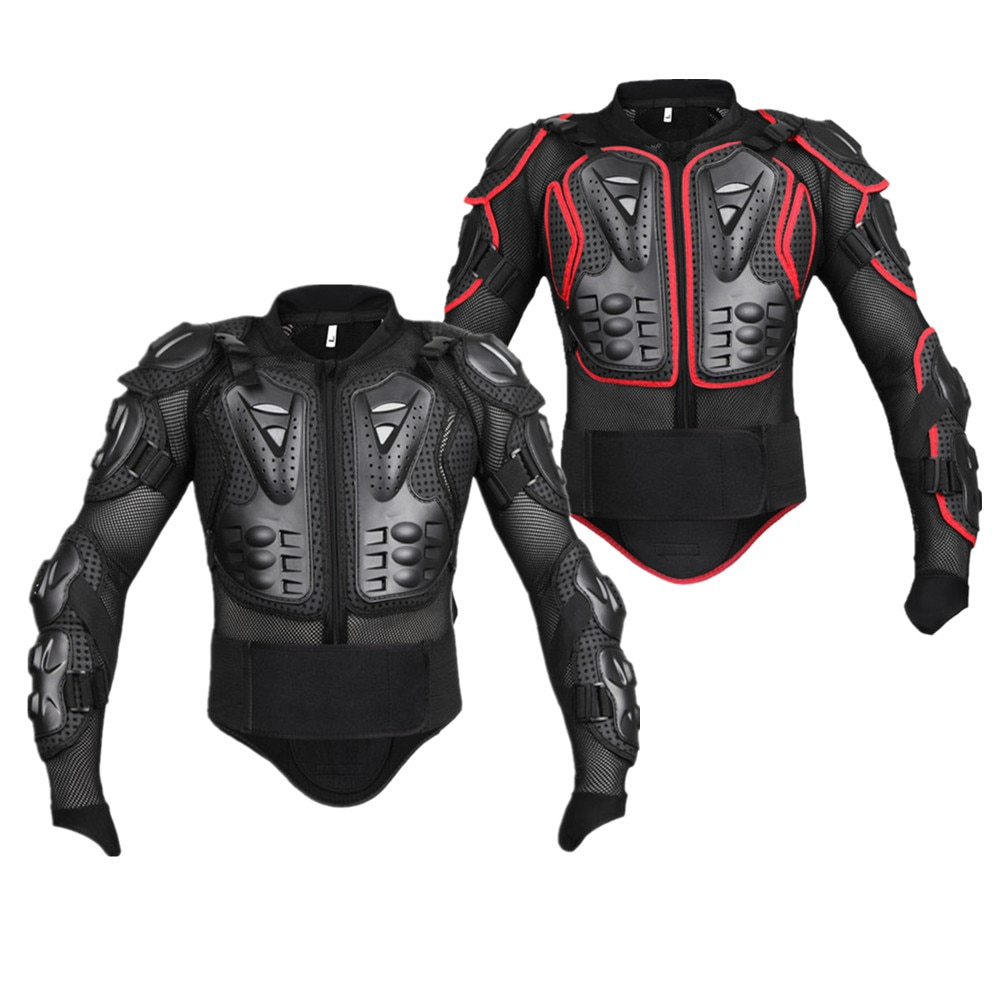 WOSAWE Men Black Red motorcycle jackets sets Protection Motocross Clothing Moto chest Back Support Clothes Armor Hip Protector enlarge