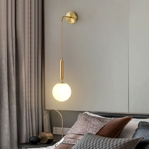 Nordic bedroom, bedside wall lamp, modern simple living room background wall lamp, light luxury, creative personality, magic bea