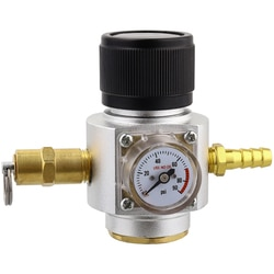Mini regulador de gás co2 0-90psi barril carregador com válvula de liberação para soda t21x4 garrafa esboço cerveja kegerator soda