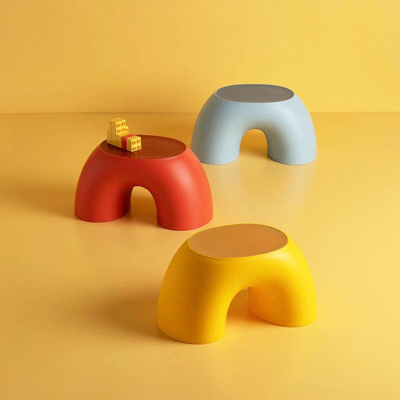 1 Uds Anti-slip taburete bajo los niños heces durable y zapatos resbaladizos usando taburete cómodo para Baño Oficina