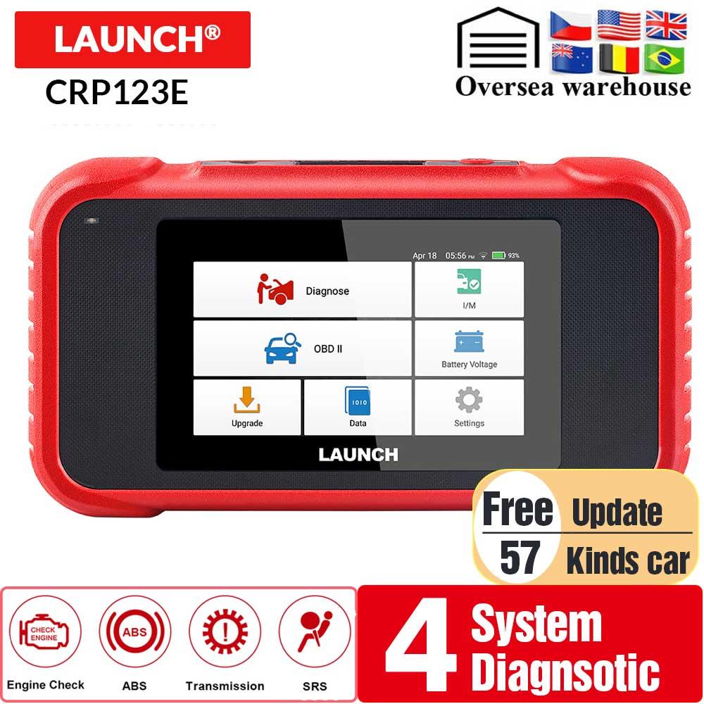 LAUNCH X431 CRP123E OBD2 lector de código para motor Airbag SRS transmisión OBDII herramienta de diagnóstico x431 CRP123 E actualización gratuita de por vida