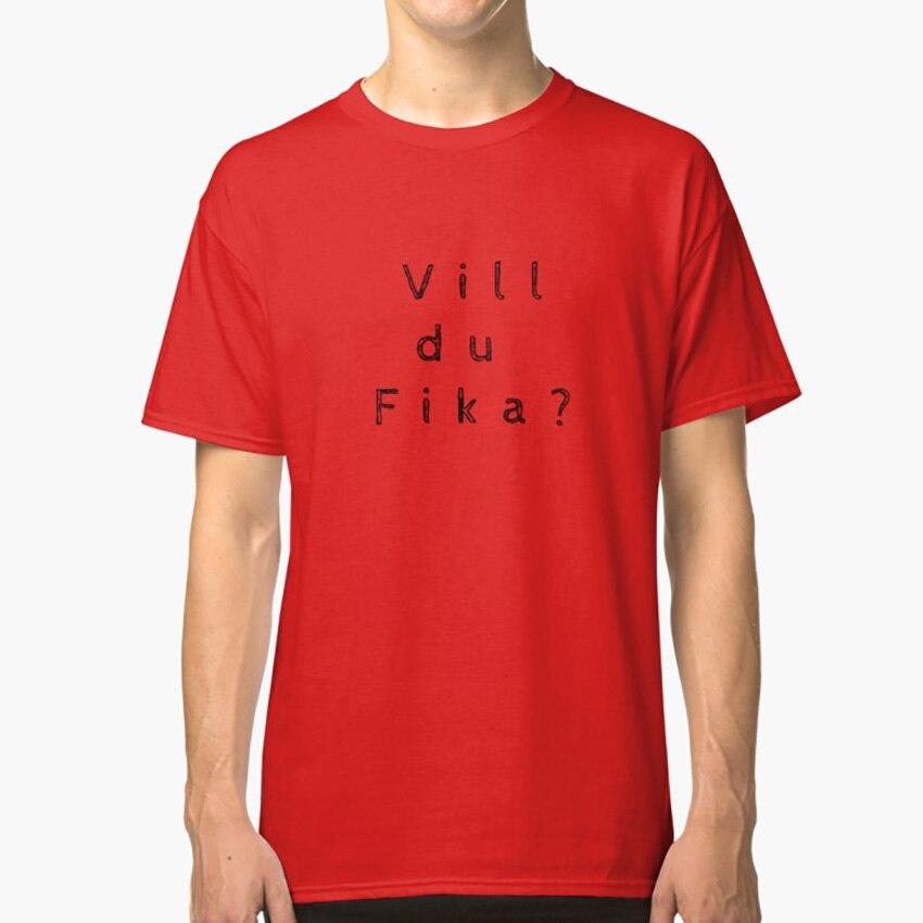 ¿VIII Du Fika? Camiseta Fika Suecia café sueco diciendo Escandinavia travieso gracioso extraño curioso