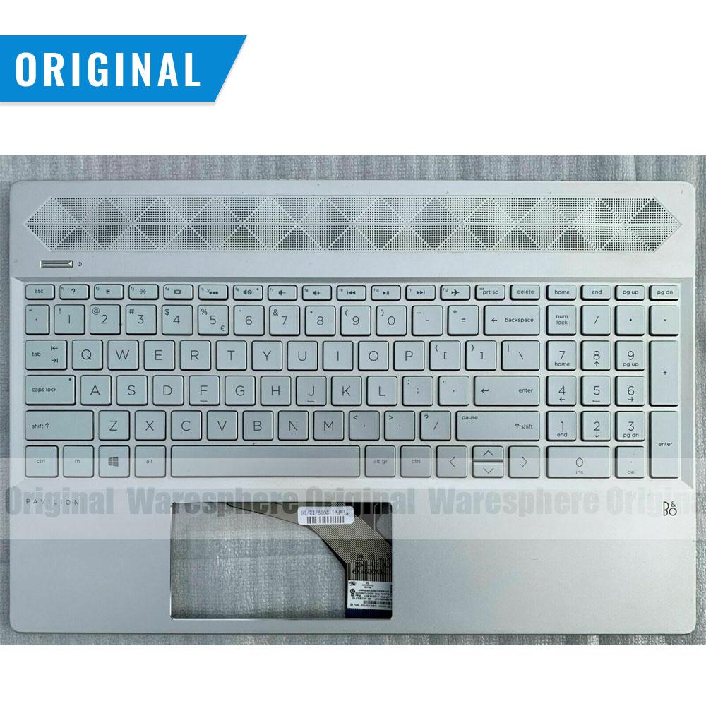 جديد الأصلي أعلى الغطاء العلوي حالة ل HP جناح 15-CS 15CS Palmrest مع الخلفية لوحة المفاتيح الشظية L24752-001