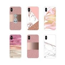 For Samsung Galaxy J1 J2 J3 J4 J5 J6 J7 J8 Plus 2018 Prime 2015 2016 2017 Accessories Phone Skin Case girly rose Gold Pink print