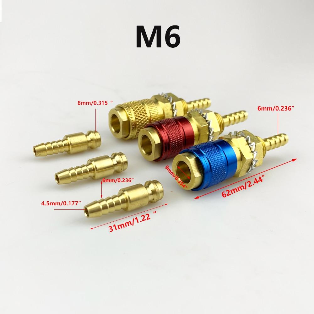 Газовый адаптер с водяным охлаждением, быстроразъемный фитинг для сварофонарь TIG или сварофонарь MIG