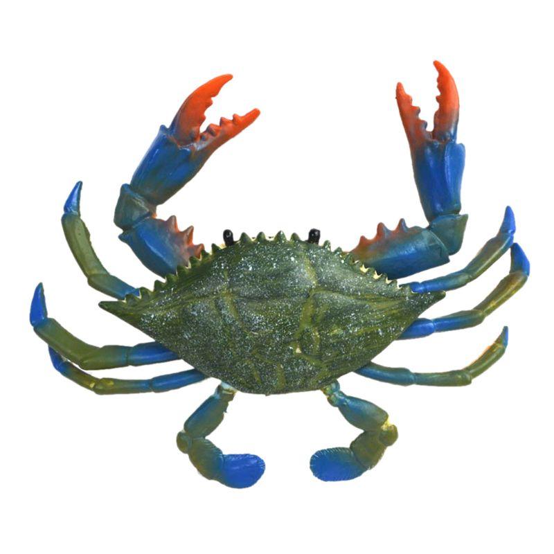 Increíble animal cangrejo azul realista pintado juguete figurita modelo agua juguetes 2020 gran oferta