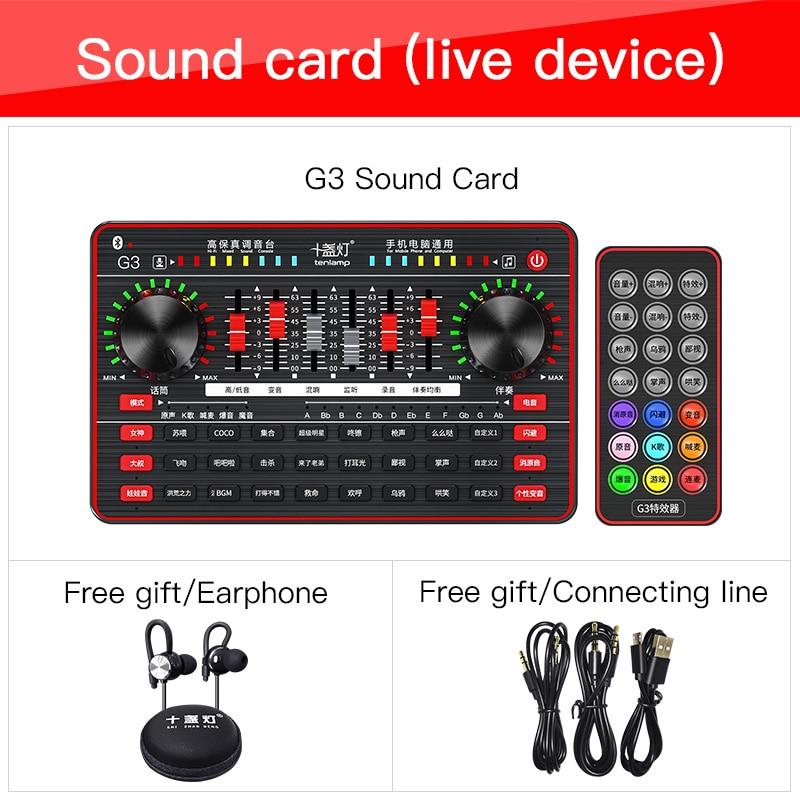لايف كارت الصوت G3 ميكروفون جهاز دمج صوتي مجلس بث مباشر خارجي صوت مغير كارت الصوت سجل استوديو للهاتف ويندوز