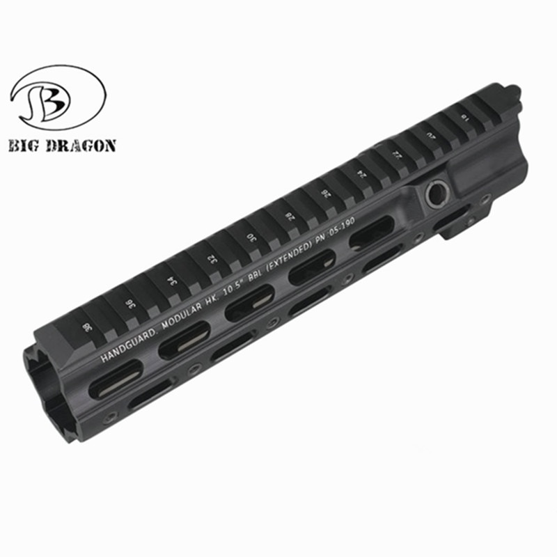 Bola de Gel Blaster SMR Rail Handguard estilo G 10,5 pulgadas para Hk416 flotador libre Delgado Airsoft Picatinny soporte de montaje ajuste M4 M16 AEG