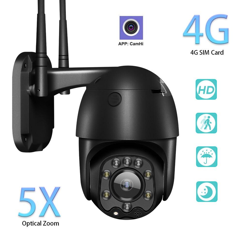 Для Iphone и Ipad IP Камера 3G 4G сим карты 1080P CCTV Камера открытый Смарт Секьюрити, Камера Wi Fi монитор купольная Камера Цвет Ночное видение