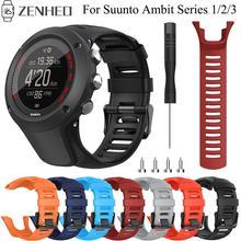 Ersatz 24mm Silikon Band Für Suunto Ambit Serie 1/2/3 Armband Sport Uhr Band