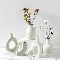 Vase nordique en ceramique pour decoration de maison  artisanat  Pot de fleur en ceramique vegetarien  Vases dart  decoration de maison  cadeaux dornement