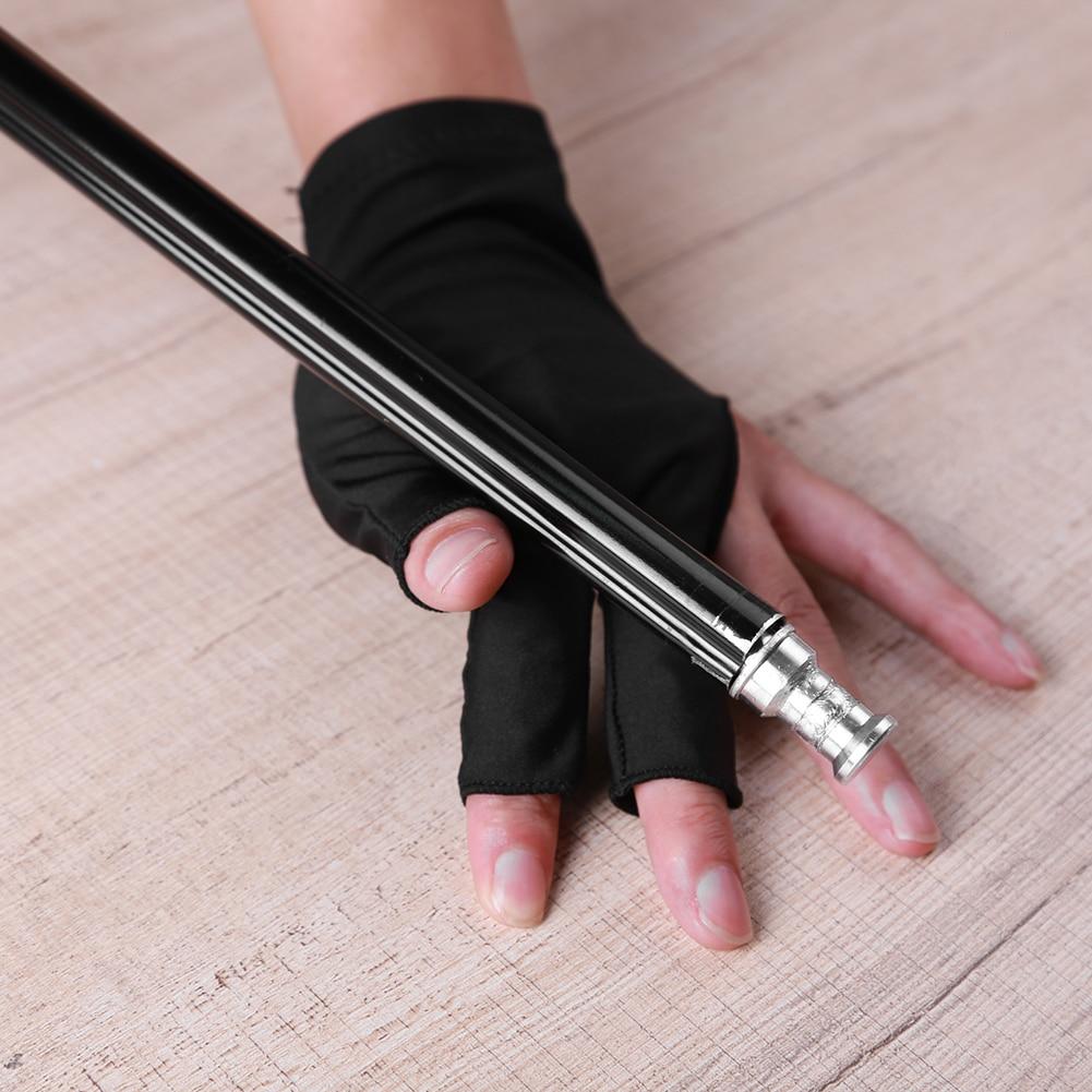 5pcs Snooker Billiard Gloves Three 3 Finger Left Hand Elastic Gloves for Men Women Pesca Tackle Snooker Billiard Accessories