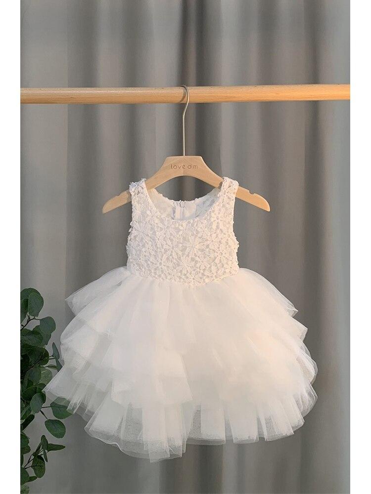 Милое кружевное платье с цветочным рисунком платье для девочек бальное платье для девочек, вечерние платья