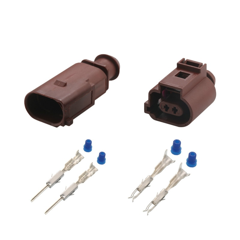Conector del Sensor de temperatura para automóvil 1J0973702 macho hembra 1,5mm conector impermeable para Volkswagen