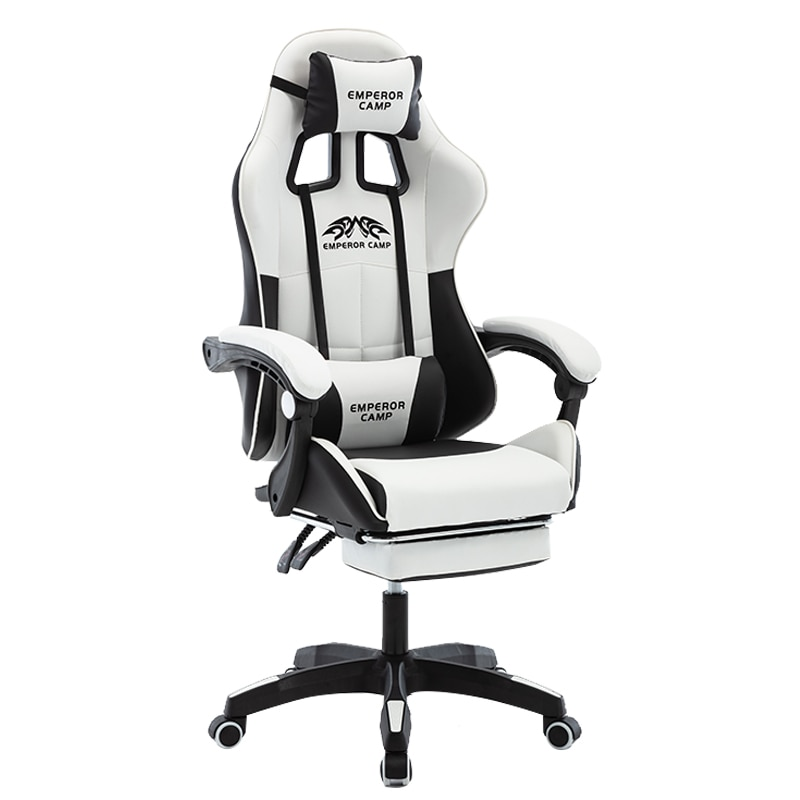 Игровой стул WCG с подставкой для ног ، игровой стул высокого качества эргономичный компьютерный стул ، домашняя мебель