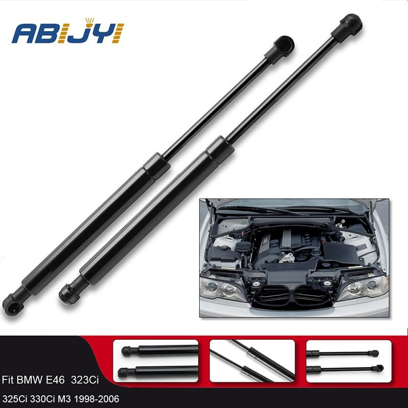 2Pcs Front Hood Lift Gas spring Support Struts Shock Springs Prop Rod For BMW E46 323Ci 323i 325i 328i 330Ci/51238202688