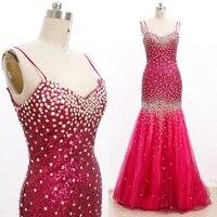 fuchsia m sexy women satin crystal mermaid long crystal sweetheart dresses 20210223 001