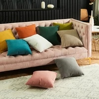 throw pillow covers soft velvet cushion covers square cushion case white green pink gray orange decorative pillowcases