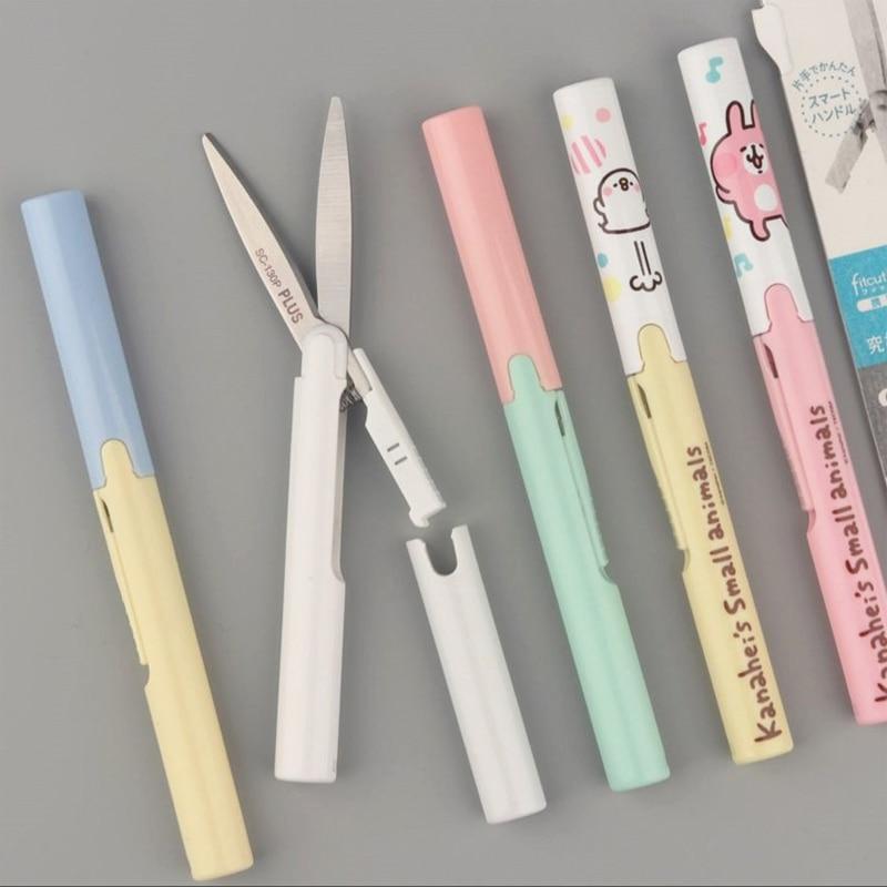 Package Japan Pross Scissors Pen-type Portable Scissors SC-130P Paper Scissors Folding Safety Pocket Scissors