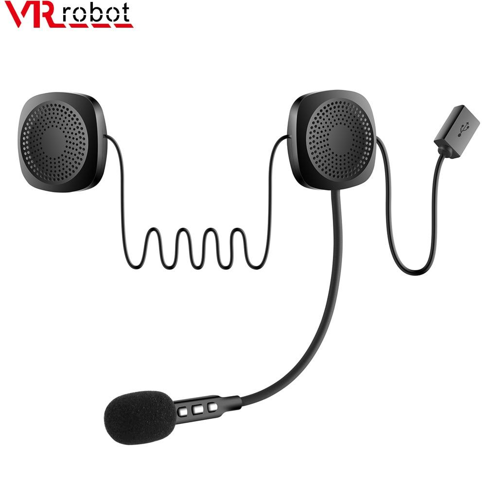 AliExpress - VR robot Bluetooth 5.0 Moto Helmet Headset Wireless Handsfree Music Speaker Headphones with Sponge Support Siri For Motorcycle