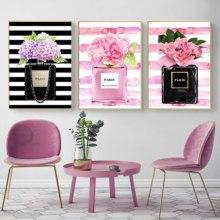 Décoration murale moderne dart   Décoration de maison, bouteille de parfum, toile peinture Coco, photos murales pour salon, affiches et imprimés à la mode, pas de cadre