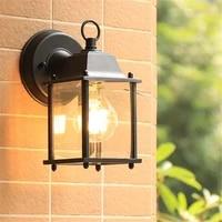 e27 american retro outdoor wall lamp metal glass gallery lamp industrial outdoor hotel buitenlamp wall lamp garden lamp