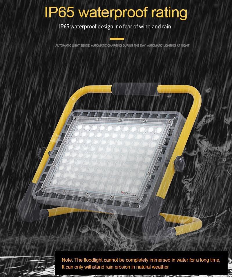 Super Bright 100W Led Flood Light Outdoor Rechargeable LED Floodlight Spotlight IP65 Waterproof LED Street Lamp Landscape Lights