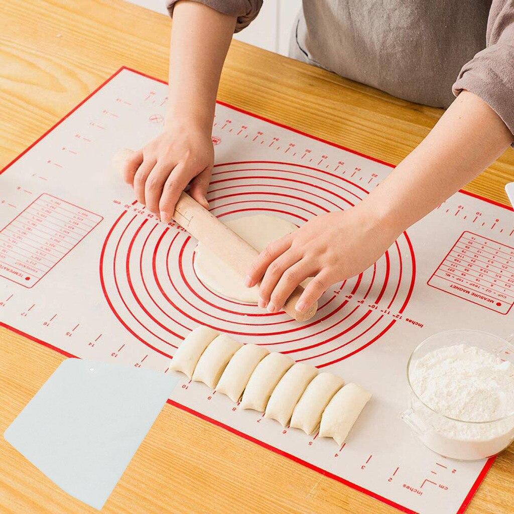 45x60 см антипригарный силиконовый коврик, лист для выпечки, кекс, десерт, мыло, разминающий коврик, коврик для выпечки со шкалой, Кондитерские ...