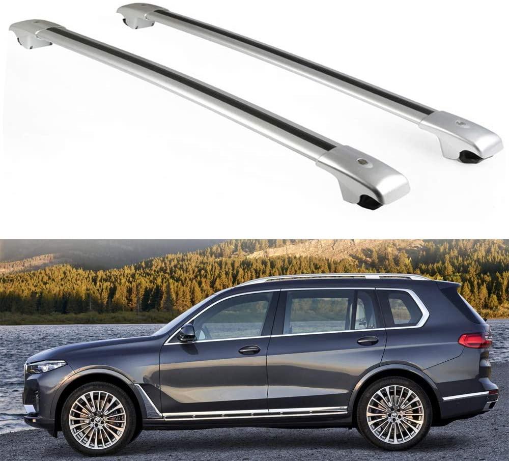 2 uds. Aptos para BMW- X7 2019 2020 barras cruzadas ajustables, bloqueables barras cruzadas para el techo, Kits de portaequipajes de carga