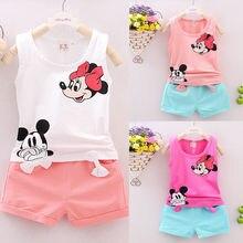 Neue Baby Mädchen Kinder Sommer Kleinkind Outfits Kleidung Tops + Shorts 2PCS Set