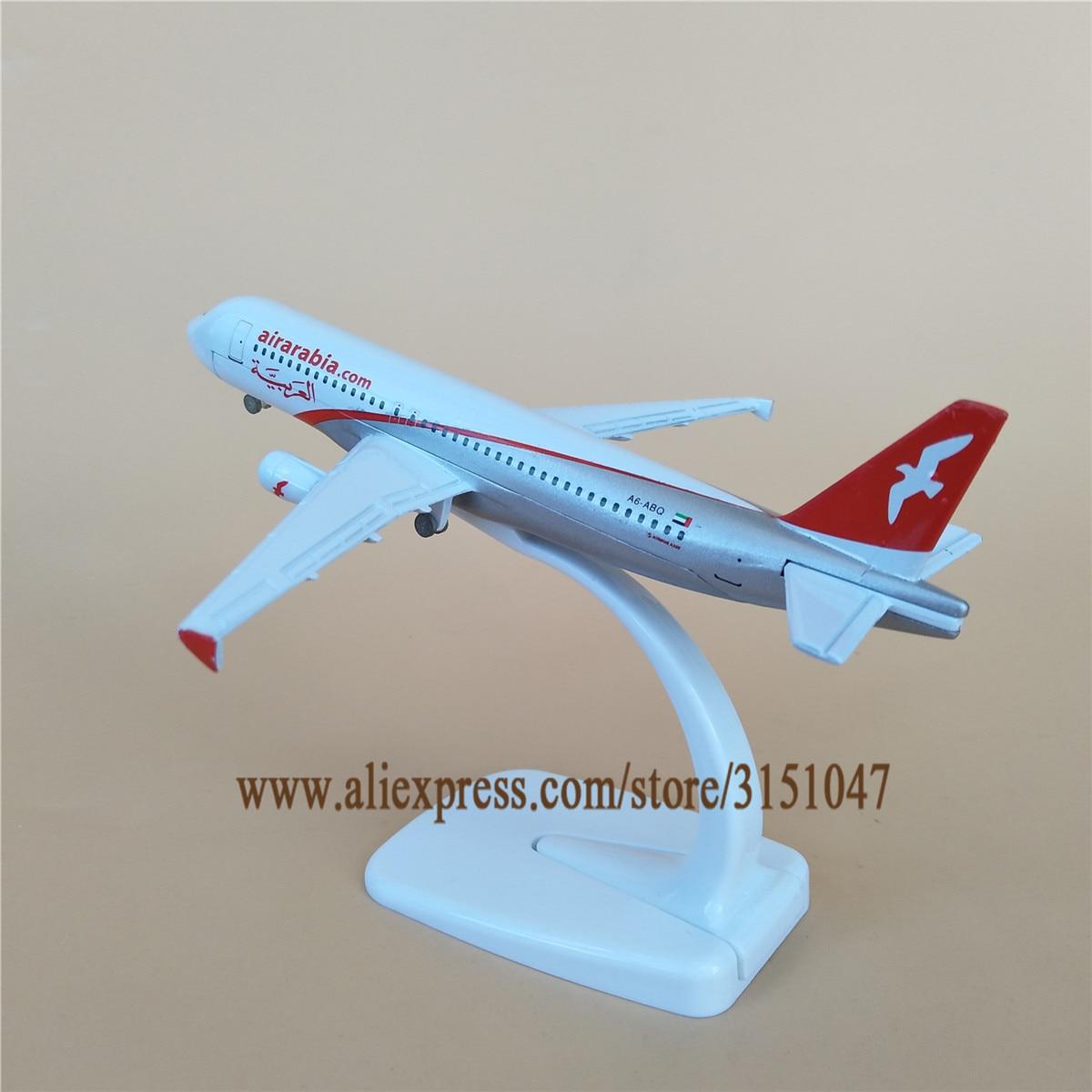 16cm Air Arabia A320 modelo de avión aerolíneas Airarabia Airbus 320 Airways aleación Metal Diecast avión modelo niños regalo