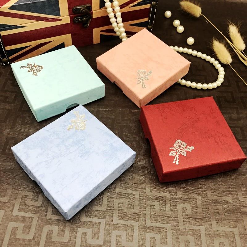 Квадратная коробка для упаковки ювелирных изделий, картонная подарочная коробка для браслетов, ожерелий, органайзер, кейсы, Женский контей...