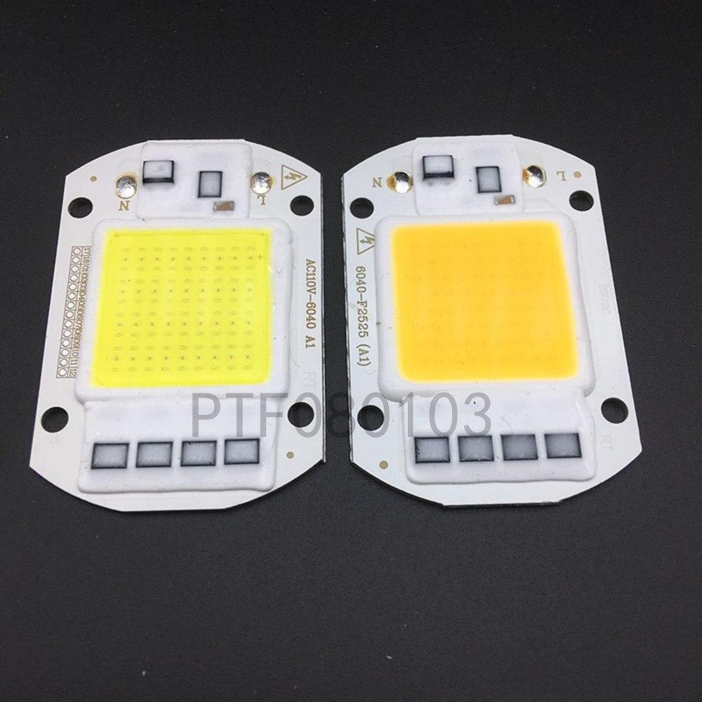 10 stuks led cob lâmpada chip 50 w chip 110 v 220 v entrada inteligente ic caber para diy led overstrowing licht koud sagacidade quente straat lam
