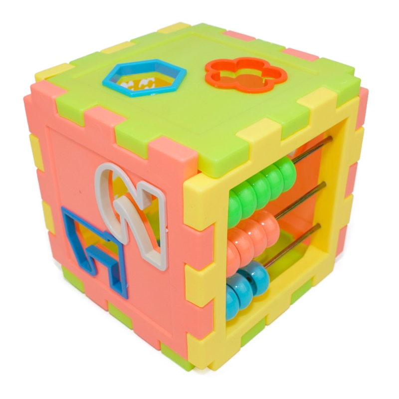 Baby Early Educational Box Toddler Shape Geometry Matching Number Counting Building Blocks Sorting Kids Cube Toy Clock Abacus baby recognition color logic intelligence toys geometric bricks cube matching building blocks toy baby early education gift toy