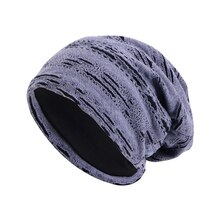 New Autumn and winter Broken Hole turban hat Cap Women men Fashion Soft Slouchy Stretchy Beanie Ligh