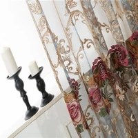 italian curtains for living dining room bedroom european style luxury embroidered curtains tulle finished product customization