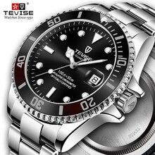Men Watches Top Brand Luxury Tevise Classic Quartz Watch Man Waterproof Stainless Steel Wristwatches