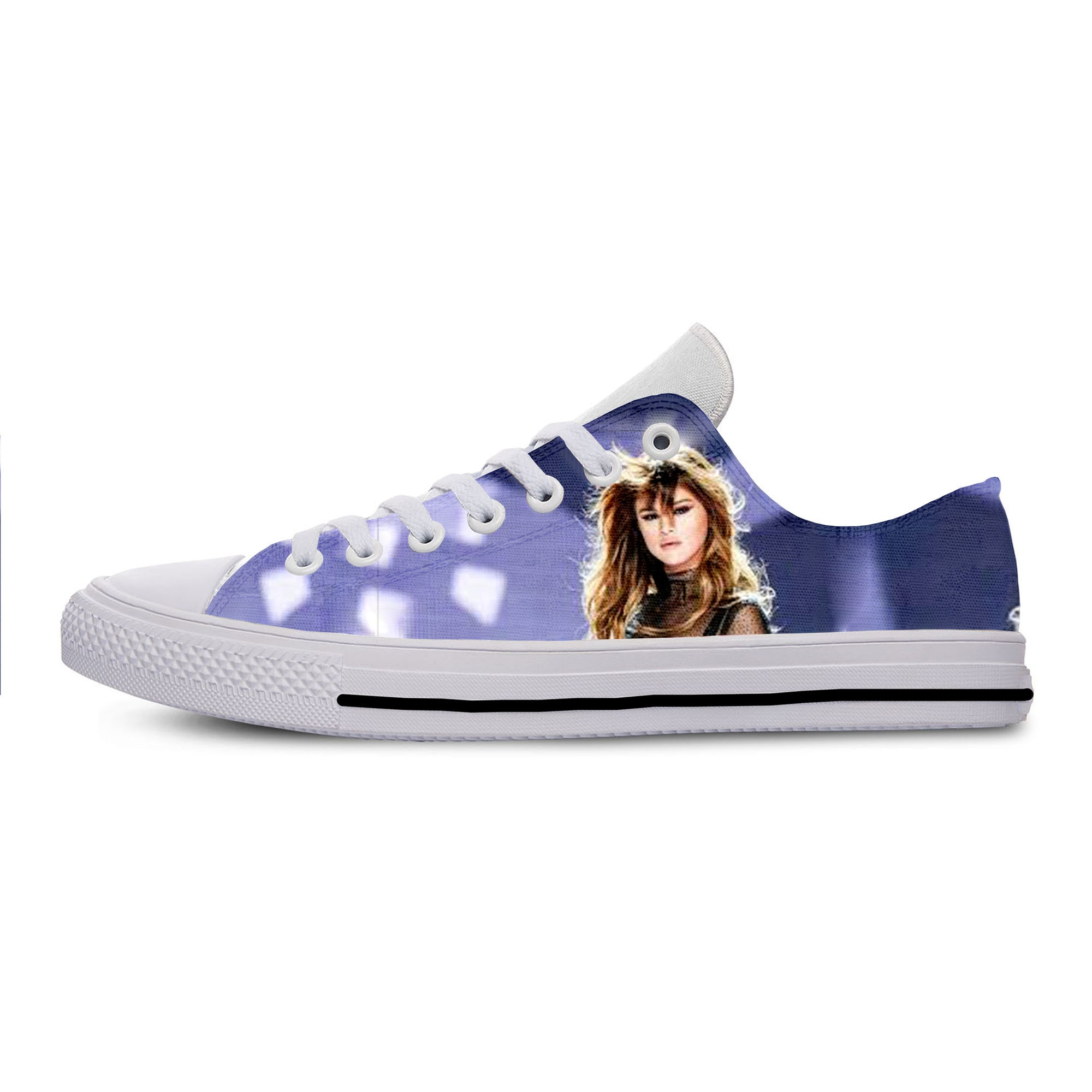 2019 Hot Cool Fashion Funny Summer High Quality Sneakers Handiness Casual Shoes 3D Printed For Men Women Selena Gomez
