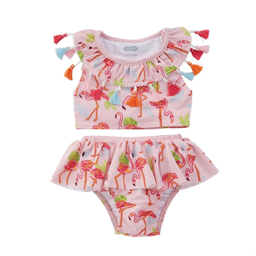 Летний купальник для младенцев детей 2 шт. комплект бикини маленьких девочек с