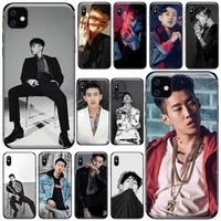 kpop rapper rap star jay park phone case for iphone 7 8 12 11 x xr xs pro max mini plus soft silicone cover shell funda coque