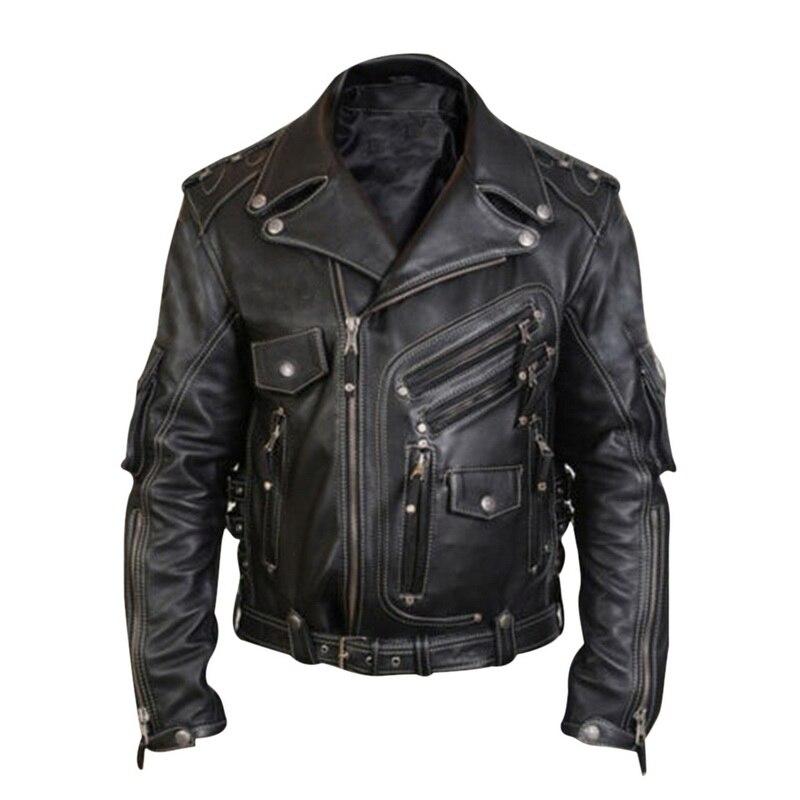 Homens gola motocicleta jaqueta de couro de luxo jaquetas casuais & fashion nova primavera inverno masculino casual silm biker roupas