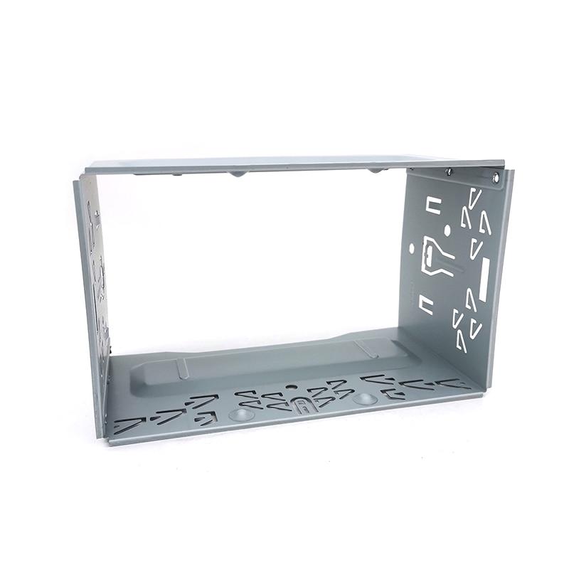 Universal 2 Din Car Stereo Radio Fascia Panel Metal for Car Radio DVD Player Mounting Frame Install Dash Bezel Trim Kit No gap enlarge