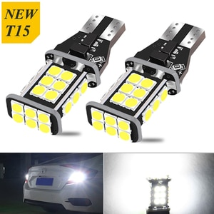 2pcs T15 W16W 24SMD 3030 led Canbus light Bulb Error Free Super bright Led Car Backup Reverse Light for Kia Rio Sorento Ceed Cer