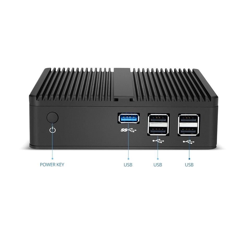Mini pc Intel de doble núcleo sin ventilador Celeron N2830, HD-MI VGA,...