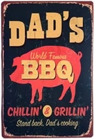 6gold iron barbecue station cooking metal vintage tin sign bar cafe kitchen home wall decor 8x12 inch