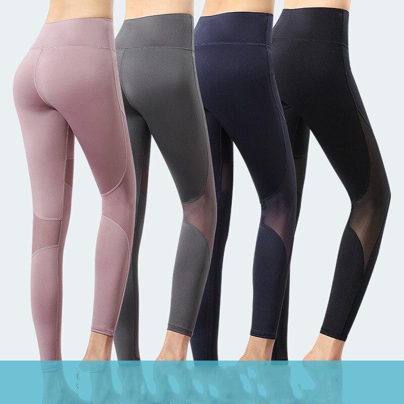 Verano primavera Yoga pantalones cintura alta sin costuras Hip Raise Leggings deportivos Running Fitness Push-ups ropa de gimnasio 2020 gran oferta