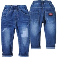 4118 kids baby boys jeans baby jeans soft denim pants child girls trousers spring autumn blue unisex elastic waist