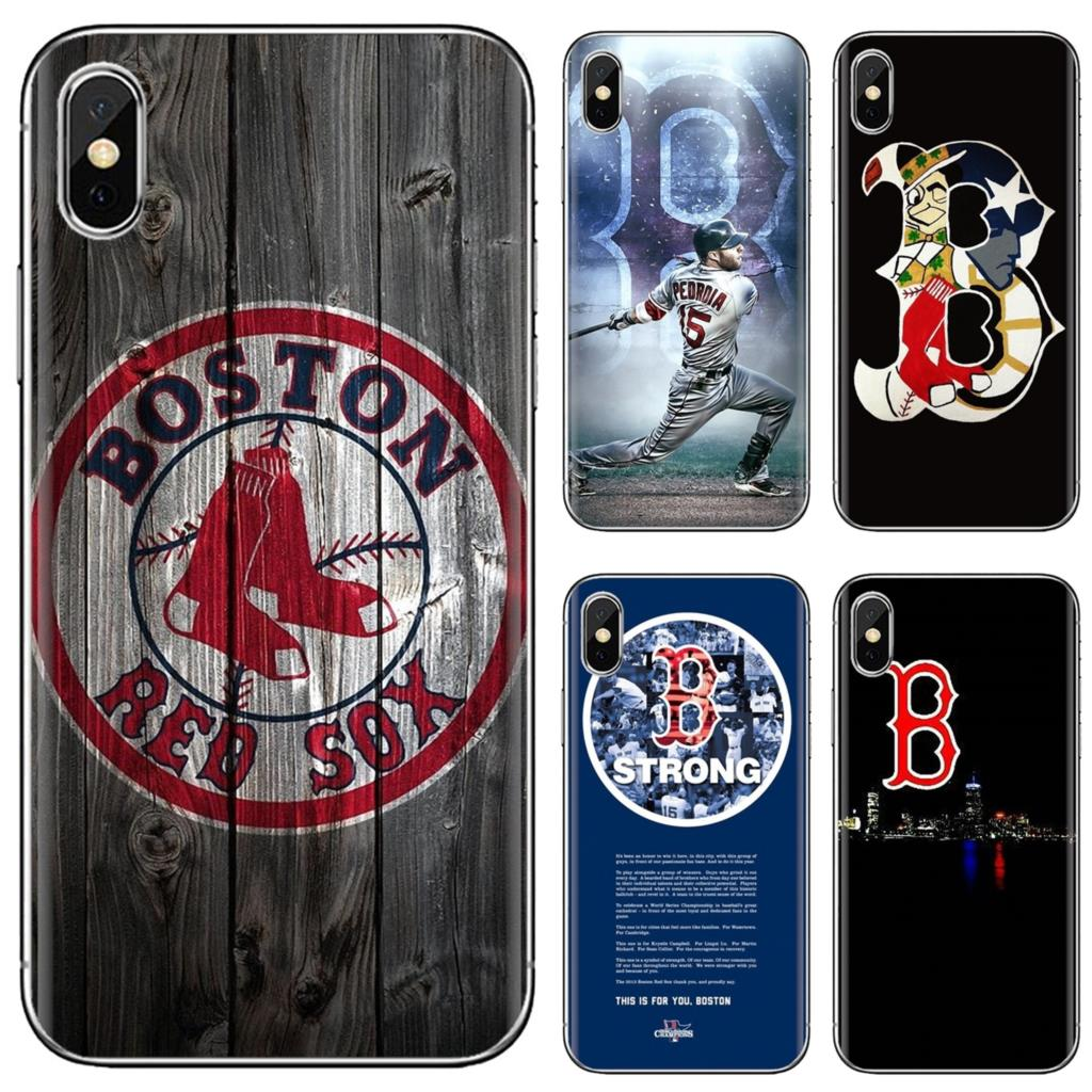 Мягкий чехол с логотипом Boston Red Sox для Samsung Galaxy S6 S10E S10 Edge Lite Plus Core Grand Prime Alpha J1 mini