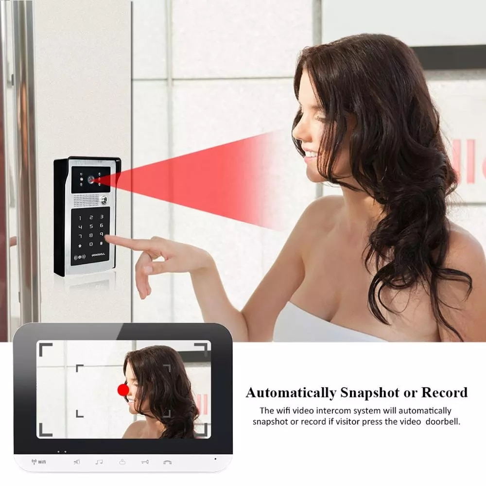 7 Inch WiFi Smart Video Door Phone Intercom System with AHD Wired Doorbell Camera Home Security Record Remote Unlock For Villa enlarge