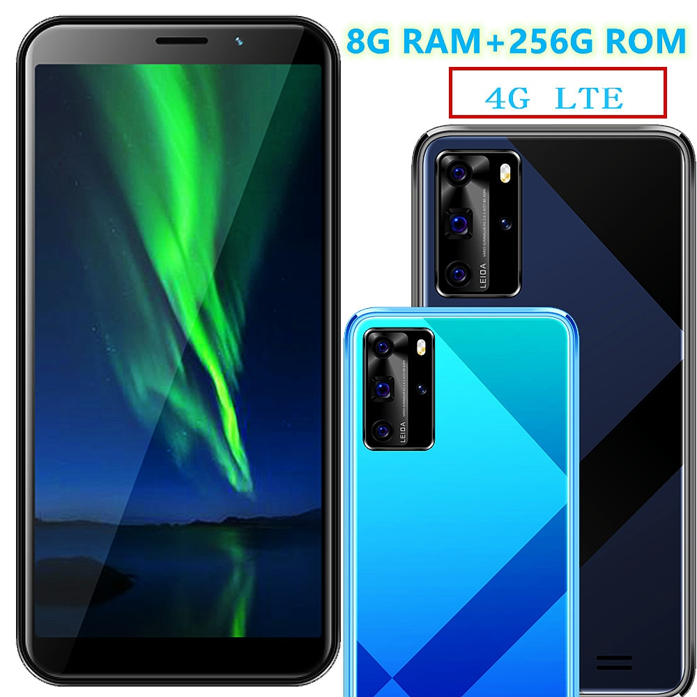 8G RAM 64G/256G ROM X3 Pro Smartphones LTE Mobile Phones 13MP Android 7.0 cheap celular cellphone unlocked 5.5inch cell phone